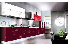 High gloss acrylic kitchen cabinets - DM9633