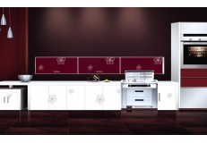 High gloss acrylic kitchen cabinets - DM9634