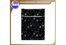 High gloss acrylic kitchen cabinets door with DM9604 acrylic sheet