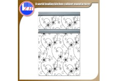High gloss acrylic kitchen cabinets door with DM9605 acrylic sheet