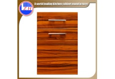 High gloss UV wood grain kitchen cabintets door ZH-3951