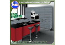 High gloss acrylic kitchen cabinets - DM9621