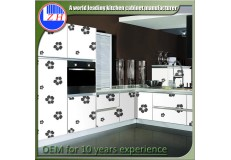High gloss acrylic kitchen cabinets - DM9628