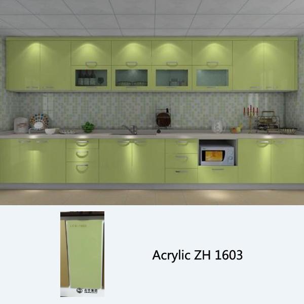 High gloss kitchen cabinet customized kitchen cabinets for Acrylic kitchen cabinets