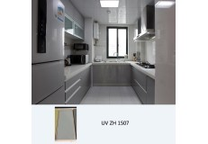 High gloss UV coated kitchen cabinet ZH1507