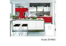 High gloss acrylic wooden kitchen cabinet simple designs ZH8602