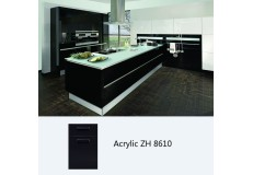 Modern design custom acrylic kitchen cabinet  ZH8610 (black)