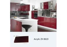 High glossy cabinet furniture acrylic kitchen cabinet ZH8619