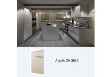 Modern high gloss laminate kitchen cabinet simple designs ZH8614