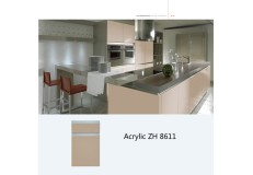 Modern kitchen designs cabinet acrylic laminate kitchen cabinet (ZH8611)