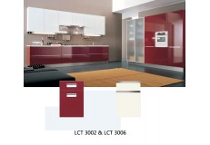 Modern kitchen designs cabinets semi gloss kitchen cabinet LCT3006