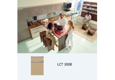 Semi gloss mdf or plywood wooden kitchen cabinet LCT 3008