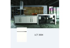 Semi gloss petg kitchen cabinet with simple design LCT 3004