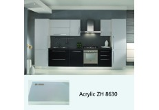 High gloss acrylic finish pearl ash whole set kitchen cabinet ZH8630