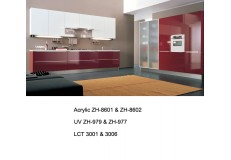 Modern high gloss wooden kitchen cabinet for project use ZH979