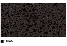 Kitchen cabinet quartz stone countertop black single color 1104A