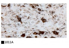 Kitchen cabinet quartz stone countertop double color 1011A