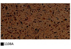 Kitchen cabinet quartz stone countertop single color 1108A