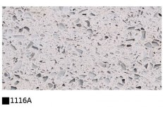 Kitchen cabinet quartz stone countertop single color 1116A