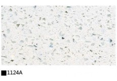 Kitchen cabinet quartz stone countertop single color 1124A
