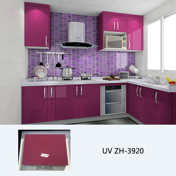 High Gloss Kitchen Cabinet Customized, How To Get A High Gloss Finish On Kitchen Cabinets