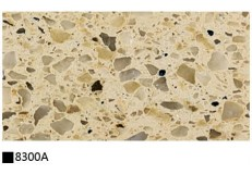 Kitchen cabinet quartz stone countertop double color 8300A