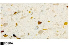 Kitchen cabinet quartz stone countertop double color 8610A