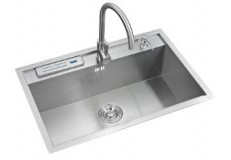 Stainless steel single bowl hand made sink for kitchen cabinet