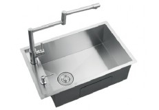 Stainless steel single bowl hand made sink for kitchen cabinet 6843