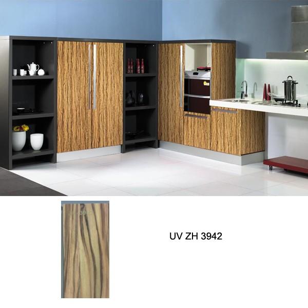 Wood Grain Kitchen Cabinets: High Gloss Kitchen Cabinet, Customized Kitchen Cabinets