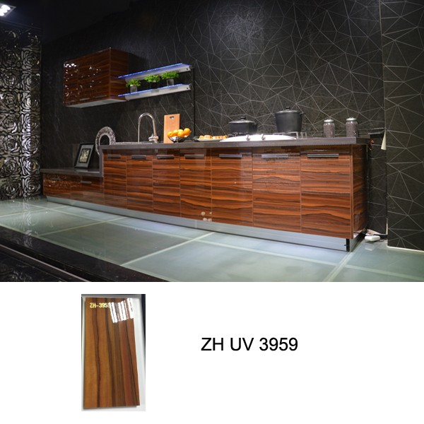 High gloss kitchen cabinet, Customized Kitchen Cabinets, Sliding ...