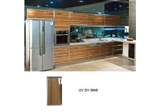 Pakistan high gloss uv wood grain kitchen cabinet ZH3948