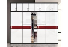 Four sliding door wardrobe closet for Australia market