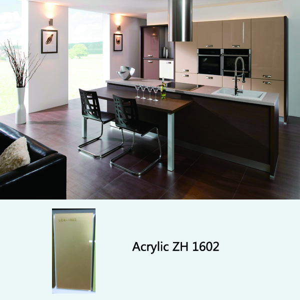 high gloss acrylic kitchen cabinets ZH1602