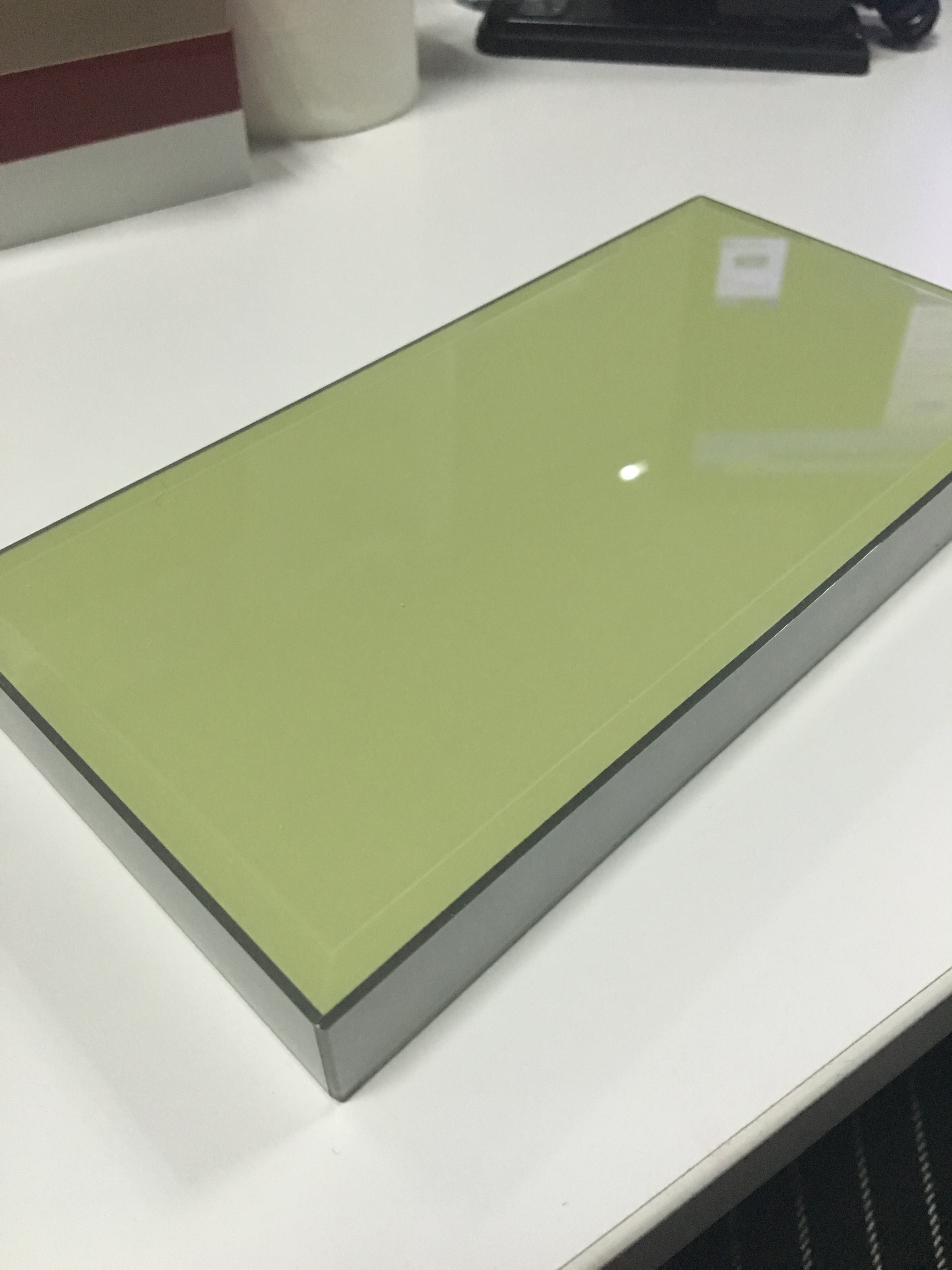 green acrylic mitre end laminated acrylic kitchen cabient ZH1603