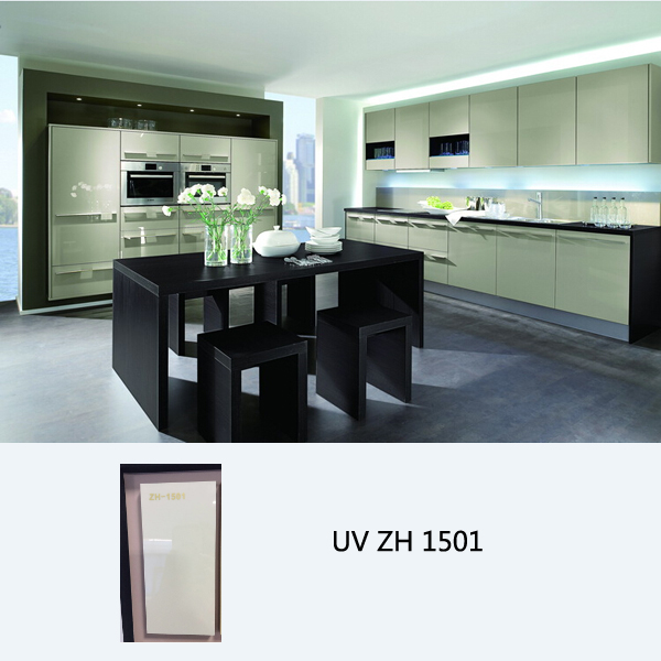 High gloss UV coated modular kitchen cabinet ZH1501