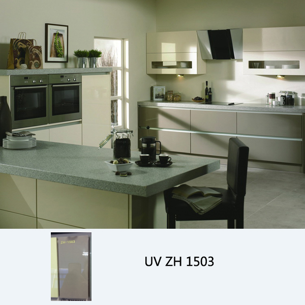 High gloss UV coated modern kitchen cabinet ZH1503