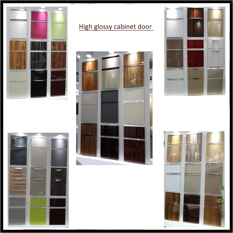 High gloss UV coated modern design kitchen cabinet ZH1603