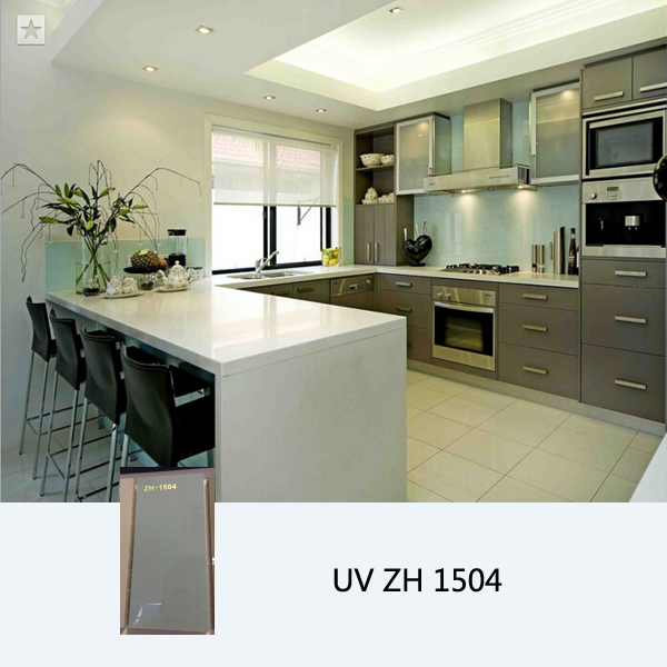 Modern high gloss uv coated wooden kitchen cabinet ZH1504