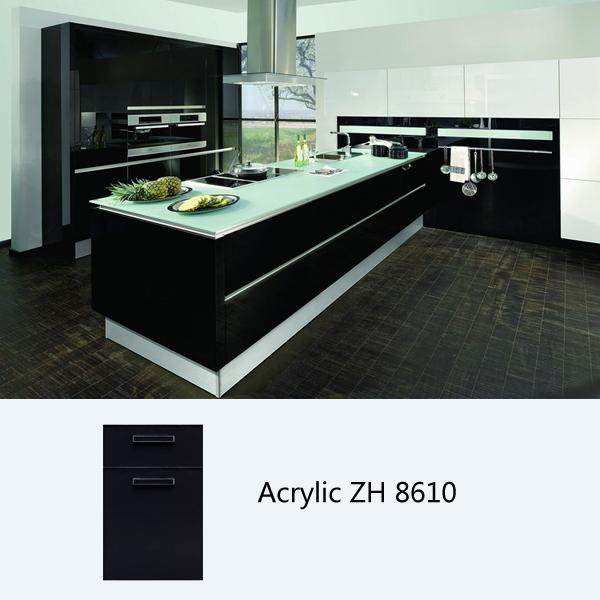 Gloss Black Kitchen Cabinets: High Gloss Kitchen Cabinet, Customized Kitchen Cabinets