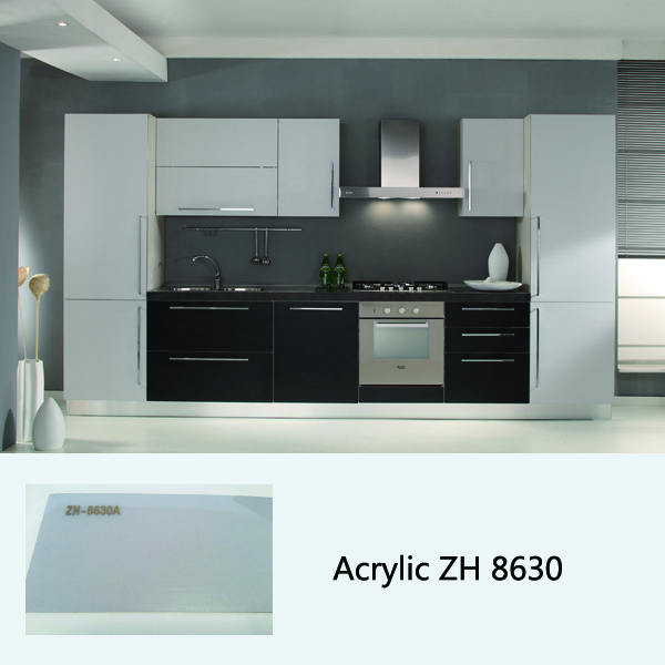 high gloss acrylic kitchen cabinet ZH3930