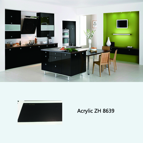Ready made high gloss kitchen cabinet ZH8639