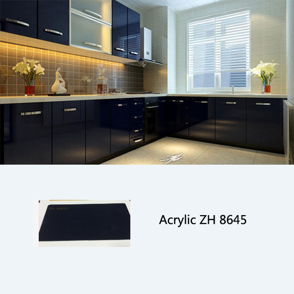 china made kitchen cabinets acrylic laminate kitchen cabinet ZH8645