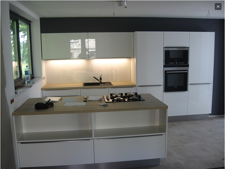 high gloss acrylic finish kitchen cabinet
