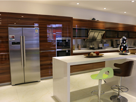 simple design uv kitchen cabinet